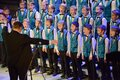 Boys choir singing onstage Royalty Free Stock Photography