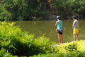Boys fishing Royalty Free Stock Photography
