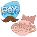 Boys and girls Stock Image