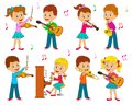 Boys and girls playing music Royalty Free Stock Photo