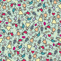 Boys and girls seamless pattern vector doodle illustration Stock Photo
