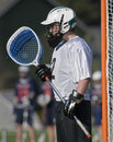 Boys Lacrosse Goalie portrait Royalty Free Stock Photo