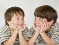 Boys Laughing Together Royalty Free Stock Photo