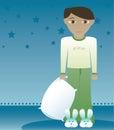 Boys like Bunny Slippers -- 1 Royalty Free Stock Photo