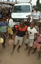 Boys playing with balls in Burundi. Stock Image