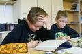 Boys at primary school.