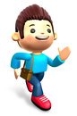 The boys ran urgently. 3D Kids Character Design Stock Photos