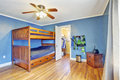Boys room with loft bed Royalty Free Stock Photo