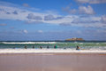 Boys teen surfing in Cantabrian sea Royalty Free Stock Photo