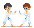 Boys who compete in karate Royalty Free Stock Photo