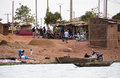 Bozo village outside Bamako, Mali Royalty Free Stock Photos