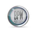 Bpm business process management button illustration design Stock Photos