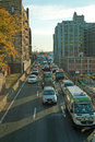 The bqe brooklyn new york queens expressway under heights promenade Royalty Free Stock Photo