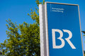 Br television in unterföhring sign infront of the studio Royalty Free Stock Photo