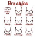 Bra styles set of different of for women Stock Photos