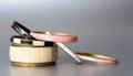 Bracelets antique on the silver background Stock Image