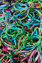 Bracelets heap of colorful plastic Royalty Free Stock Photo