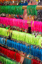 Bracelets many colorful displayed on a street market stall Stock Photos