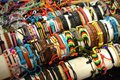 Bracelets miscellaneous of various colors for sale at the holiday folk fair international at state fair park in milwaukee wi Royalty Free Stock Photos