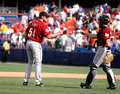 Brad Lidge and Brad Ausmus Houston Astros Stock Images