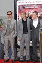 Brad Pitt, George Clooney, Matt Damon Stock Images