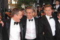 Brad Pitt,George Clooney,Matt Damon Stock Photography