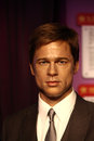 Brad pitt pitts wax statue at madame tussauds museum at hong kong Stock Photo