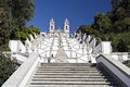 Braga basilica of bom jesus view the stairway leading to the good in portugal Stock Image