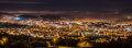 Braga cityscape at night panorama of lighted city of portugal Stock Images