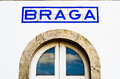 Braga poster of the city of in a former railway station Stock Photography