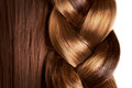 Braid hairstyle brown long hair close up healthy hair Royalty Free Stock Photography