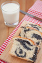 Braided bread with poppy seeds Royalty Free Stock Photo