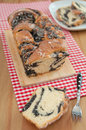Braided bread with poppy seeds Stock Photography