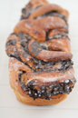 Braided bread with poppy seeds Royalty Free Stock Images