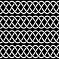 Braided rope celtic knots seamless pattern, vector