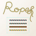 Braided rope pattern seamless for decoration design. Rope brush for illustrator. Easy to use and modify.