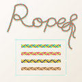 Braided rope pattern vector seamless for decoration design. Rope brush for illustrator. Easy to use and modify.