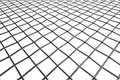 Braided wire steel net perspective view white background abstract industrial texture Royalty Free Stock Image