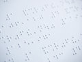 Braille alphabet Royalty Free Stock Photo