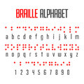 Braille alphabet and numbers Royalty Free Stock Photo