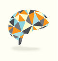 Brain activity abstract vector design showing synapses Royalty Free Stock Photography