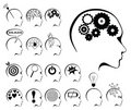 Brain activity and states icon set Royalty Free Stock Photos