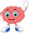 Brain cartoon illustration