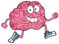 Brain Character Jogging Royalty Free Stock Photo