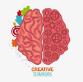 Brain of Creative teamwork concept Royalty Free Stock Photo