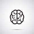 Vektor mozog ikona