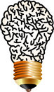 Brain lamp Royalty Free Stock Photography