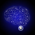 Brain paiute thinking machine of the future Royalty Free Stock Image