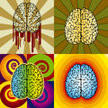 Brain patterns Royalty Free Stock Photo