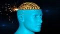 Brain scan a closeup of a Stock Photography